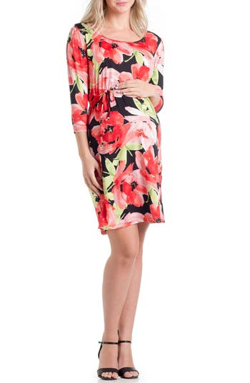 Lilac Clothing Print Maternity Dress