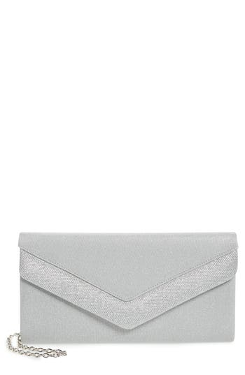 Menbur Metallic Envelope Clutch