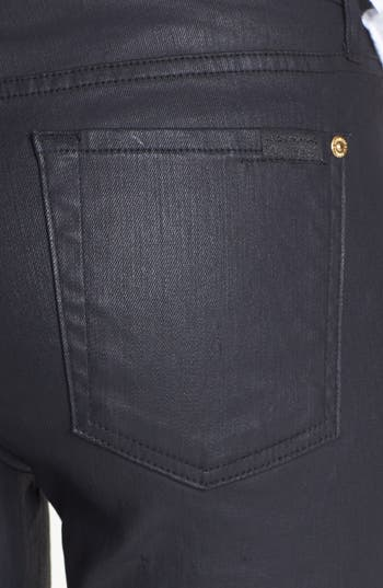Alternate Image 3  - 7 For All Mankind® Coated Skinny Jeans (Black)
