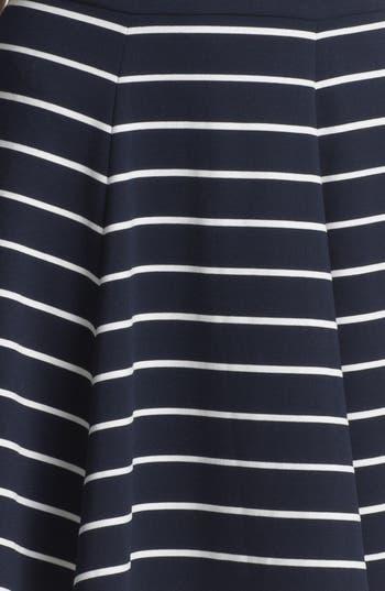Alternate Image 3  - Eliza J Stripe Fit & Flare Dress (Petite)