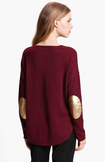Alternate Image 2  - Zadig & Voltaire 'Kimmy' Elbow Patch Cashmere Sweater