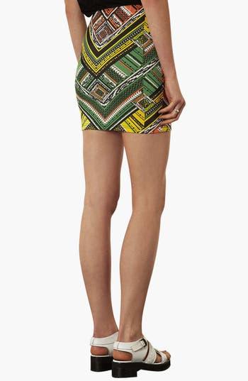 Alternate Image 2  - Topshop Print Jersey Miniskirt