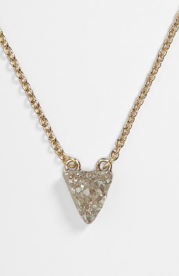 Alternate Image 2  - Stephan & Co. Stone Pendant Necklace (Juniors)