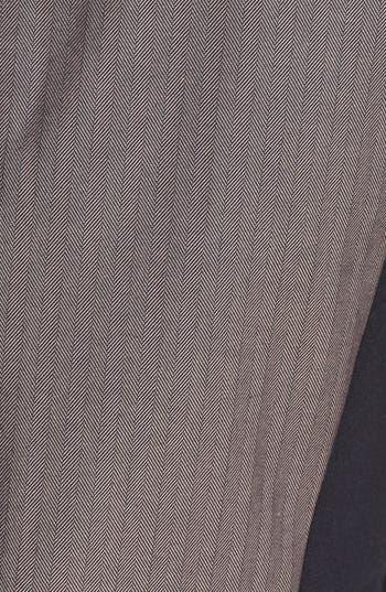 Alternate Image 3  - DKNYC Ponte Inset Herringbone Sheath Dress
