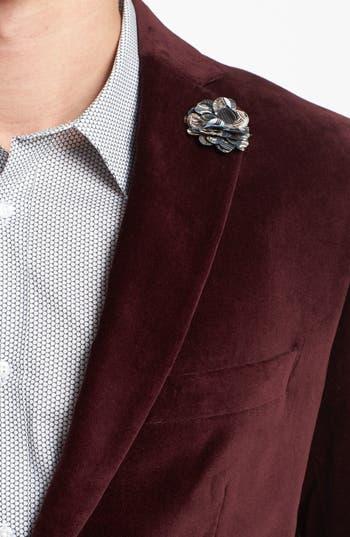Alternate Image 3  - Michael Kors Trim Fit Velvet Blazer