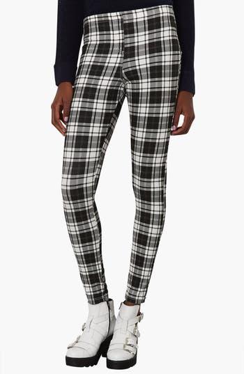 Main Image - Topshop Checkered Denim Leggings