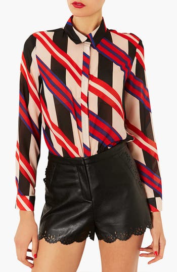 Main Image - Topshop Tie Print Shirt