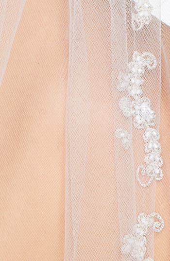 'Mary Kate' Embroidered Cathedral Veil,                             Alternate thumbnail 2, color,                             Ivory
