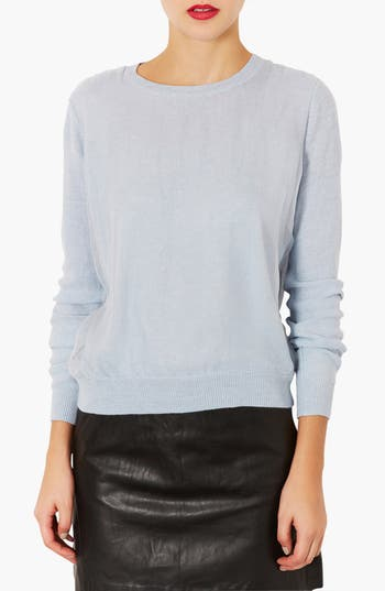 Alternate Image 1 Selected - Topshop Organza Front Sweater