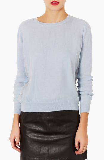 Main Image - Topshop Organza Front Sweater