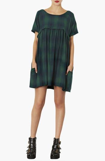 Alternate Image 1 Selected - Topshop Check Print Smock Dress