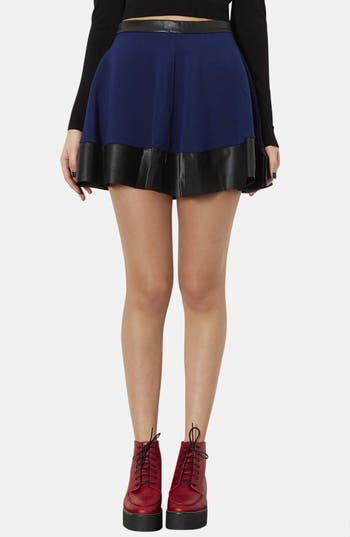 Alternate Image 1 Selected - Topshop Contrast Hem Skater Skirt