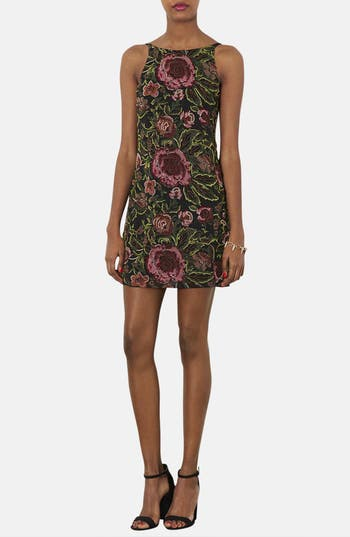 Alternate Image 1 Selected - Topshop Embellished Floral Slipdress