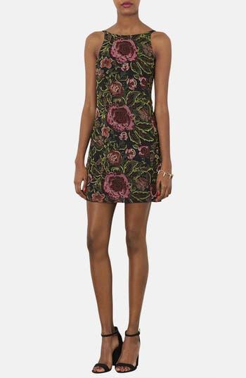 Main Image - Topshop Embellished Floral Slipdress