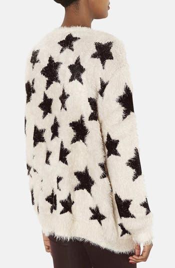 Alternate Image 2  - Topshop Star Motif Textured Cardigan