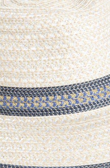 Squishee<sup>®</sup> Straw Fedora,                             Alternate thumbnail 2, color,                             Cream/ Blue Tweed