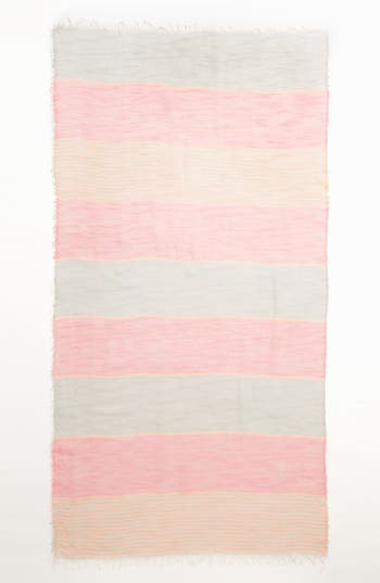 Alternate Image 2  - BP. Stripe Sheer Woven Scarf (Juniors)