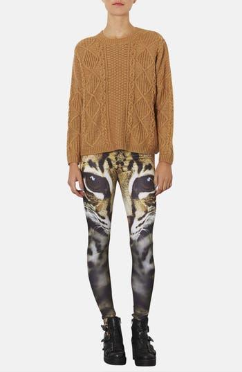 Alternate Image 4  - Topshop Cat Face Leggings