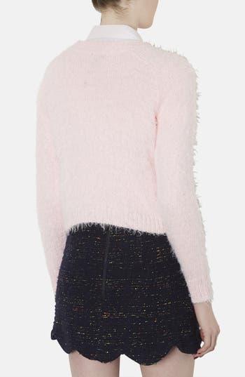 Alternate Image 2  - Topshop Ribbed Knit Crop Sweater