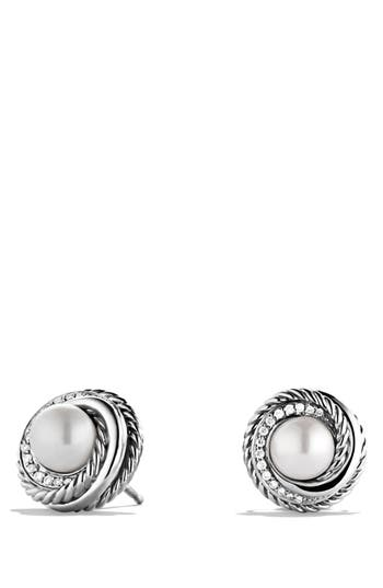 david yurman earrings nordstrom david yurman pearl crossover earrings with diamonds 3082