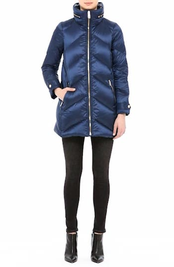 Eastwick Chevron Quilted Coat, video thumbnail
