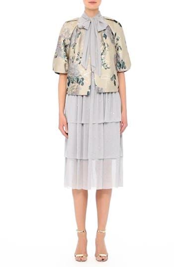 Crinkle Silk Georgette Tiered Dress, video thumbnail