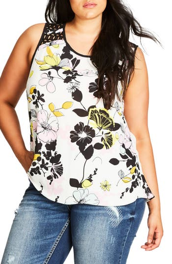 City Chic Art Darling Top (Plus Size)