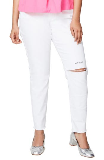 Rachel Roy Live to Love Ripped Skinny Jeans (Plus Size)