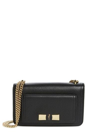 Salvatore Ferragamo Pebbled Leather Chain Crossbody Bag