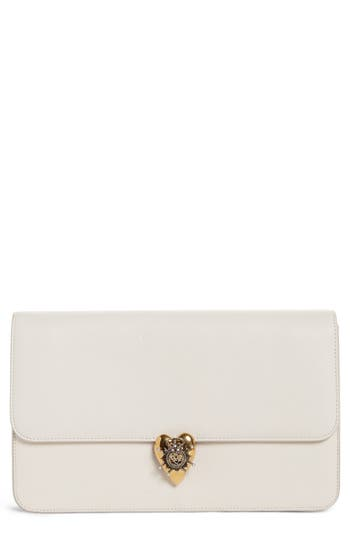 Alexander McQueen Heart Leather Clutch