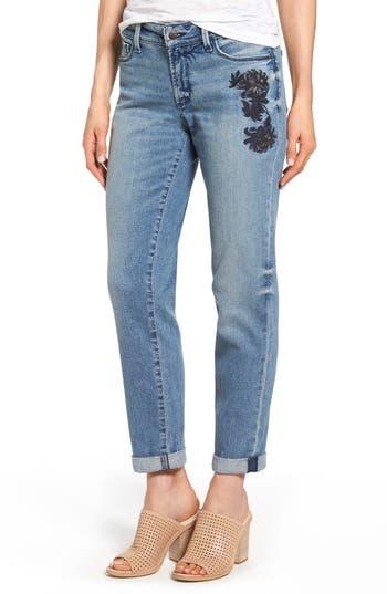 NYDJ Jessica Embroidered Boyfriend Jeans (Prima)