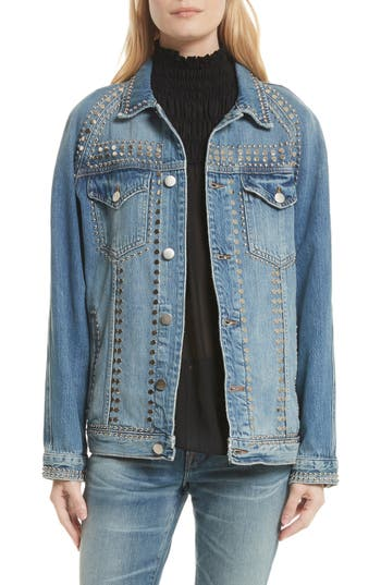 FRAME Le Studded Denim Jacket