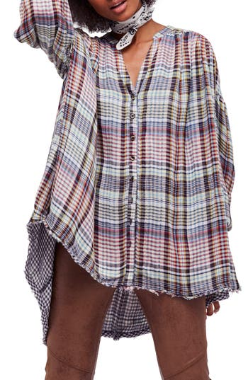 Free People Come on Over Plaid..