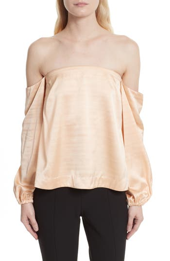 Elizabeth and James Nolita Satin Off the Shoulder Top
