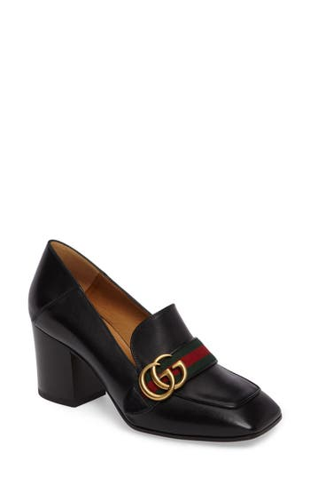 Gucci Peyton Block Heel Pump (Women)