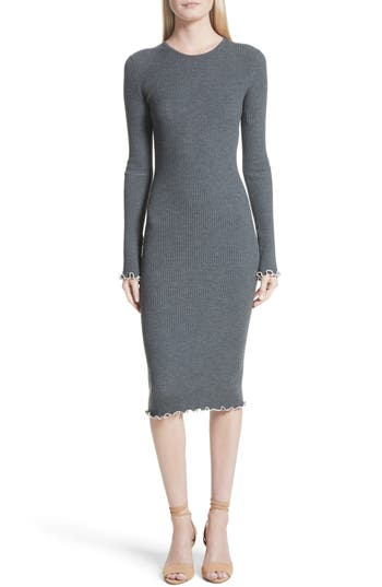 Elizabeth and James Letty Ruffle Rib Knit Dress