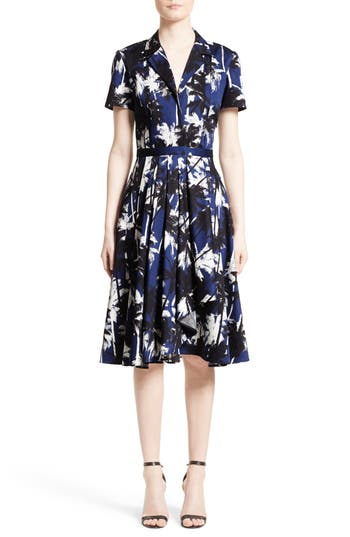 Jason Wu Print Cotton Fit & Fl..