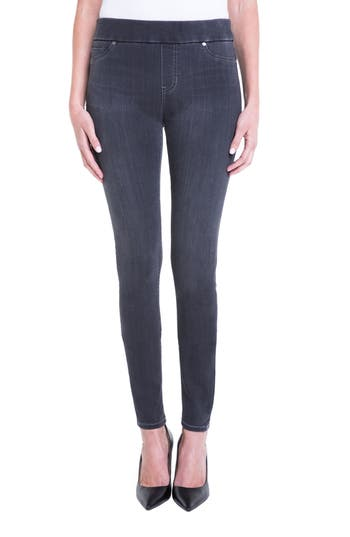 Liverpool Jeans Company Sienna Pull-On Knit Denim Leggings (Meteorite) (Regular & Petite)