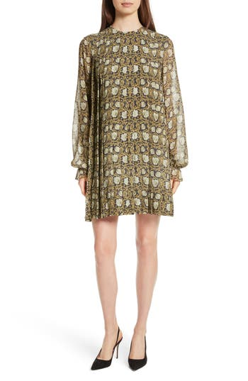 Robert Rodriguez Floral Print Silk Chiffon Dress