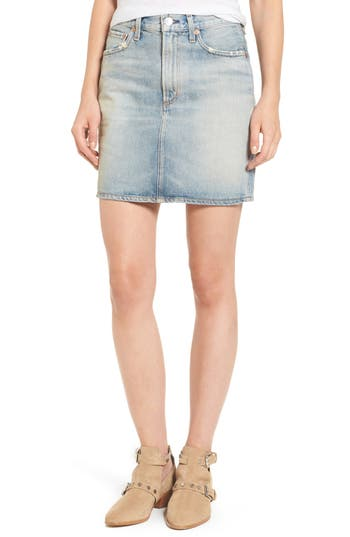AGOLDE Kat High Waist Denim Miniskirt