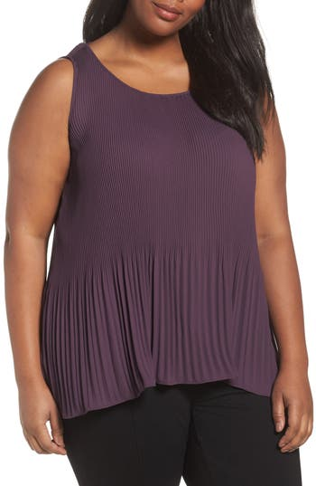 Sejour Pleat Shell (Plus Size)