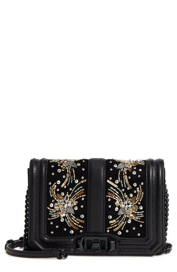 Rebecca Minkoff Small Love Embellished Leather Crossbody Bag