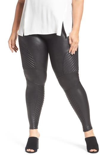 Spanx high waist moto leggings plus size nordstrom for Plus size spanx for wedding dress