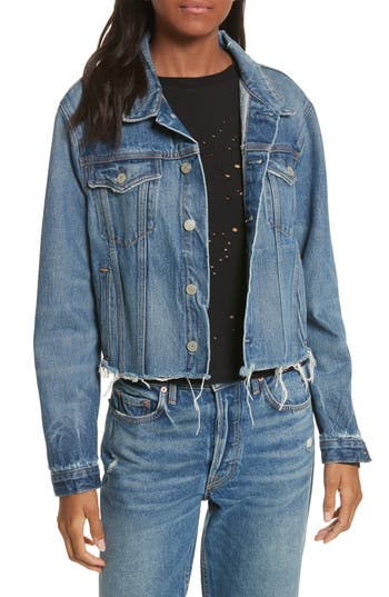 GRLFRND Crop Denim Jacket