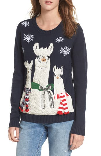 Love By Design Holiday Llama Sweater Nordstrom