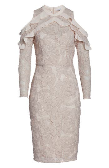 Cooper St Ruffle Lace Sheath D..