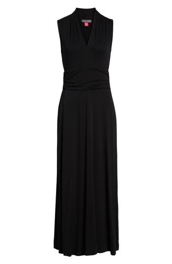 Vince Camuto V-Neck Maxi Dress (Regular & Petite)