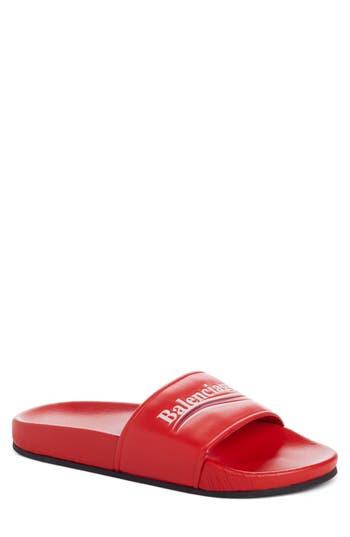 Balenciaga Logo Slide Sand..