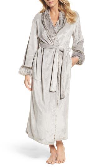 Natori Fleece & Faux Fur Robe