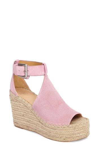 Marc Fisher LTD Annie Perforated Espadrille Platform Wedge (Women)